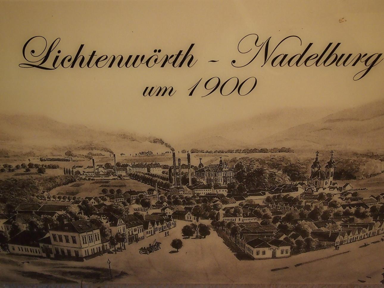 Historische Abbildung der Nadelburg in Lichtenwörth © Archiv Nadelburg